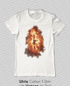 ar-15 explosion fire t-shirt tank top white