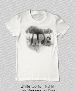 vape with smoke trails t-shirt tank top white