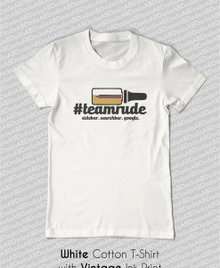 ecr team rude t-shirt white