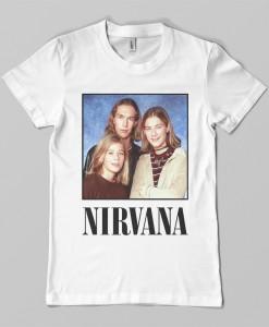 hanson brothers nirvana font tshirt tank top white